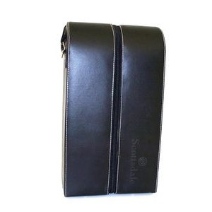 Wine Caddy - Black Leather